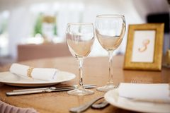 Table setting for celebration Stock Photos