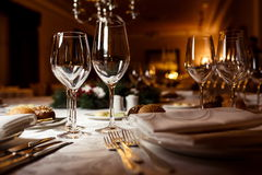Table setting for celebration Royalty Free Stock Photos