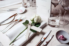 Table setting for celebration Royalty Free Stock Images