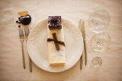 Table setting for celebration Royalty Free Stock Photo