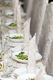 Table setting for  celebratory dinner. Royalty Free Stock Photography