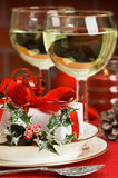 Table Setting For Christmas Royalty Free Stock Photography