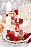 Table setting for Christmas Royalty Free Stock Photo