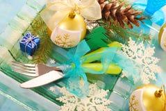 Table setting for christmas Royalty Free Stock Image