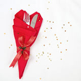 Table setting for Christmas Royalty Free Stock Photos