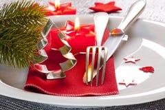Table setting for christmas Stock Image