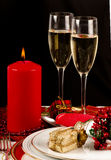 Table setting  for Christmas meal. Stock Images