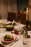 Table setting for Christmas party Royalty Free Stock Photos