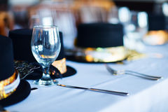 Table setting for Christmas party Royalty Free Stock Image
