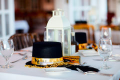 Table setting for Christmas party Stock Images