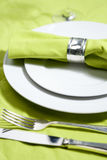 Table setting in close up Stock Image