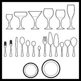 For table setting. Collection for table setting EPS vector format vector illustration