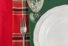 Table setting with colorful napkins. Stock Photo