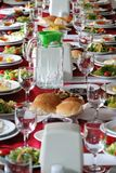 Table setting in a country side restaurant in Turkey Royalty Free Stock Photo