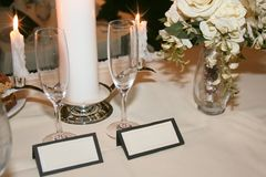 Table setting for couple Royalty Free Stock Images