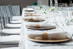 Table setting. With decor Stock Photography