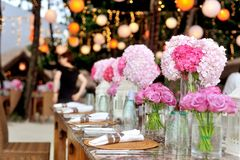 Table setting decorated dream times royalty free stock images