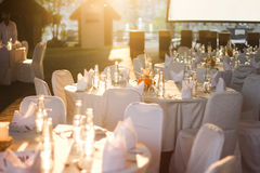 Table setting and decoration Royalty Free Stock Photography