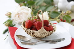 Table setting for dessert Royalty Free Stock Photo