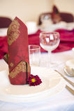 Table setting details. Stock Image