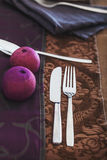 Table setting for dinner Royalty Free Stock Images