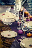 Table setting for dinner Royalty Free Stock Photo