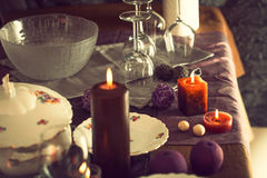 Table setting for dinner Stock Image