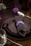 Table setting for dinner Royalty Free Stock Photos