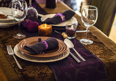Table setting for dinner Royalty Free Stock Image