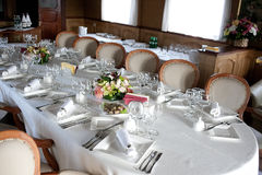 Table setting before dinner Royalty Free Stock Images