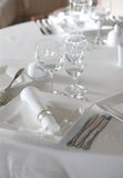 Table setting before dinner Stock Photo