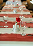 Table setting for a dinner event stock image