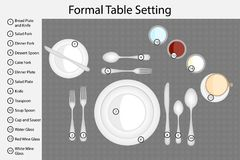 Table setting. Vector stock illustration
