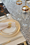 Table setting and dishware. Shown as featured table and formal dinner setup Royalty Free Stock Images