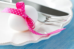 Table setting for easter Stock Photography
