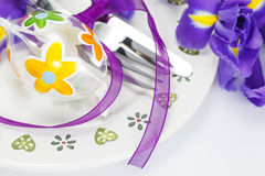 Table setting for easter Royalty Free Stock Photography