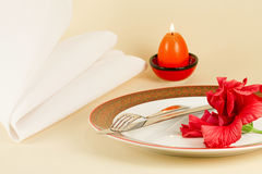 Table setting by Easter Stock Image