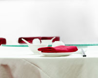 Chinese restaurant table setting Royalty Free Stock Photo