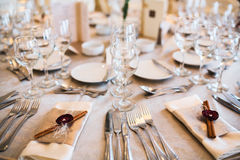 Table setting for event Royalty Free Stock Image
