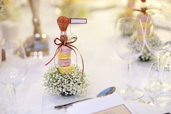Table setting for an event party Stock Photos