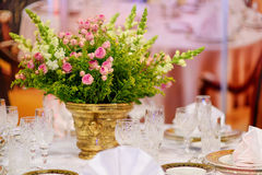 Table setting for an event party Stock Photography