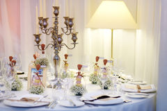 Table setting for an event party Royalty Free Stock Photos