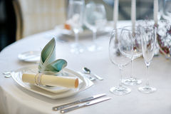 Table setting for an event party Royalty Free Stock Images