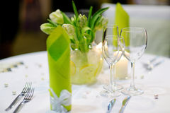 Table setting for an event party Royalty Free Stock Photography