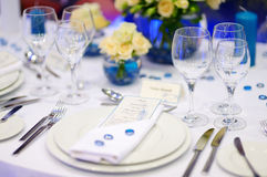Table setting for an event party Stock Images