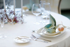 Table setting for an event party Royalty Free Stock Photo