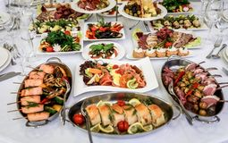 Buffet table, serving Royalty Free Stock Images