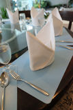 Table setting, folded napkin Stock Photo