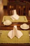 Table Setting,Folded Napkin Royalty Free Stock Photography