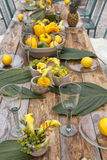 Table setting for garden party Royalty Free Stock Image
